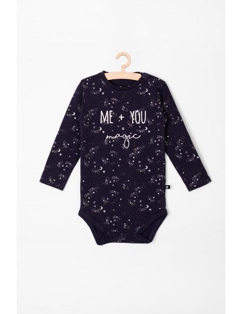 Body niemowlęce w gwiazdki, z napisem