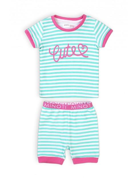Piżama niemowlęca z napisem- Cute