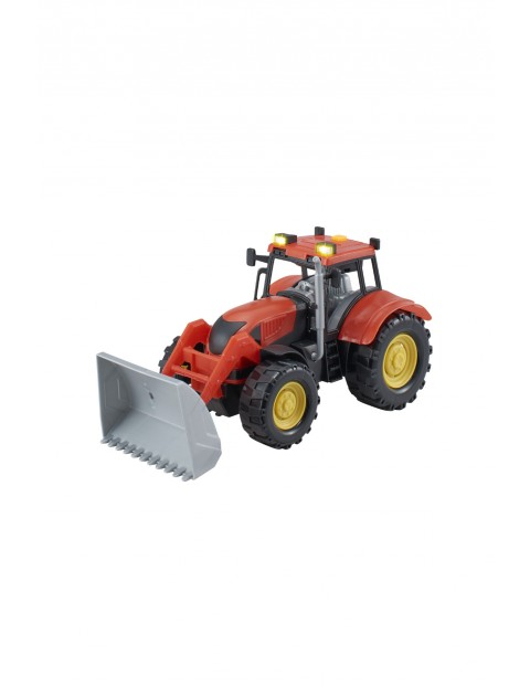 Agro pojazdy - Traktor z akcesoriami czerwony