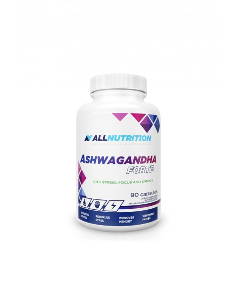 Suplementy diety - Allnutrition Ashwagandha forte - 90 kapsułek