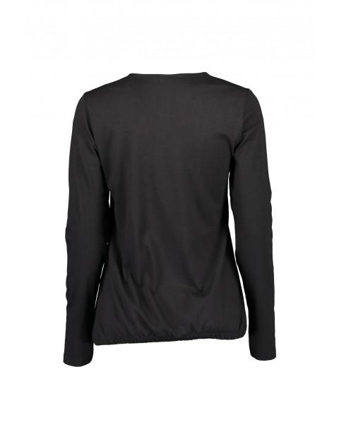 Bluzka damska z nadrukiem- czarna