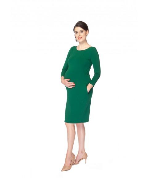 Sukienka ciążowa Milky Way 7/8 rękaw-zielona