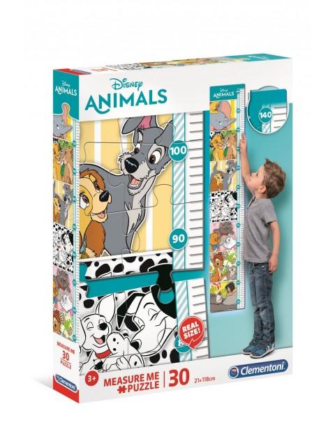 Puzzle miarka wzrostu Disney zwierzęta - 30 el wiek 3+