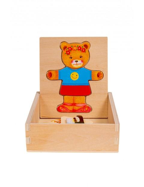 Układanka drewniana Miś dziewczynka  Smily Play wiek 3+