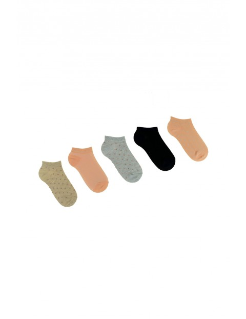 Skarpety damskie kolorowe stopki 5pak