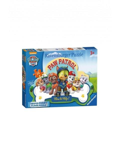 Puzzle Psi patrol - kształt giant - 24 elementy  wiek 3+