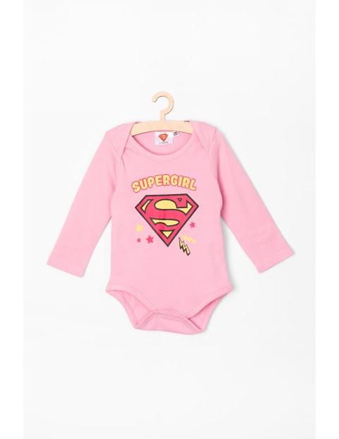 Body dziewczęce różowe Supergirl