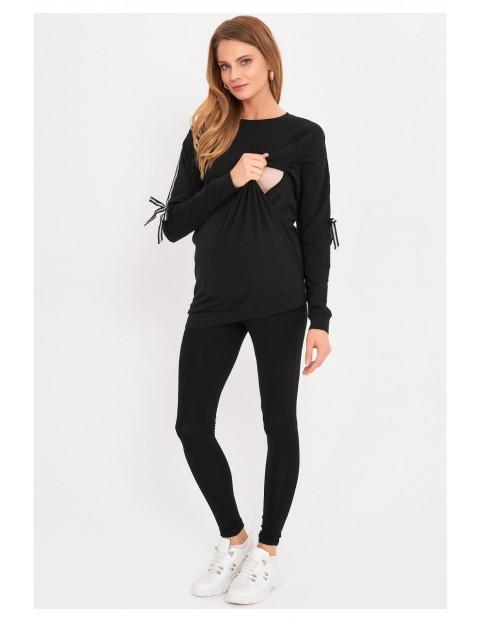 Czarna bluza ciążowa i dla karmiącej mamy