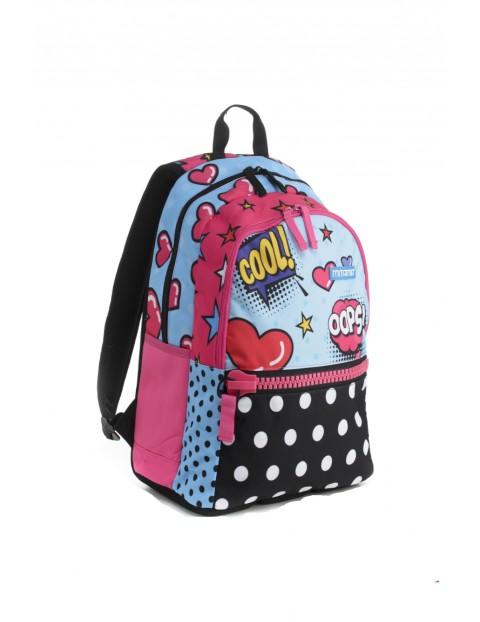 Plecak dziewczęcy szkolny  - we wzorki