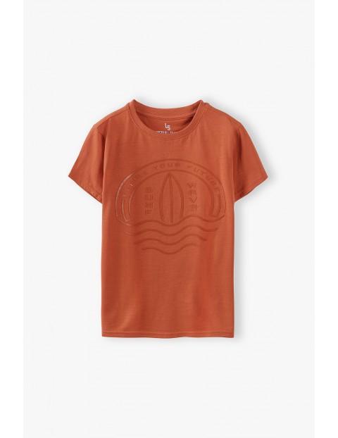 T-shirt chłopięcy z młodzieżowym nadrukiem