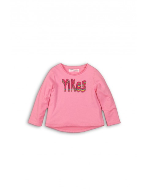 Różowa bluzka dla niemowlaka- długi rękaw