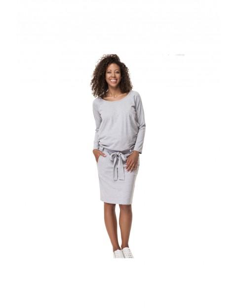 Sukienka ciążowa Comfy szara 5O35LK