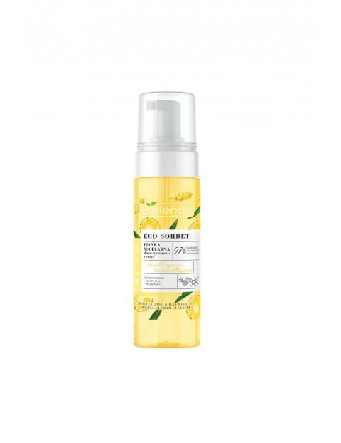 ECO SORBET Ananas - pianka micelarna do oczyszczania - nawilżająco-rozświetlająca, 150 ml