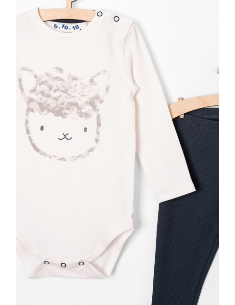 Komplet ubrań dla niemowlaka- body i leginsy