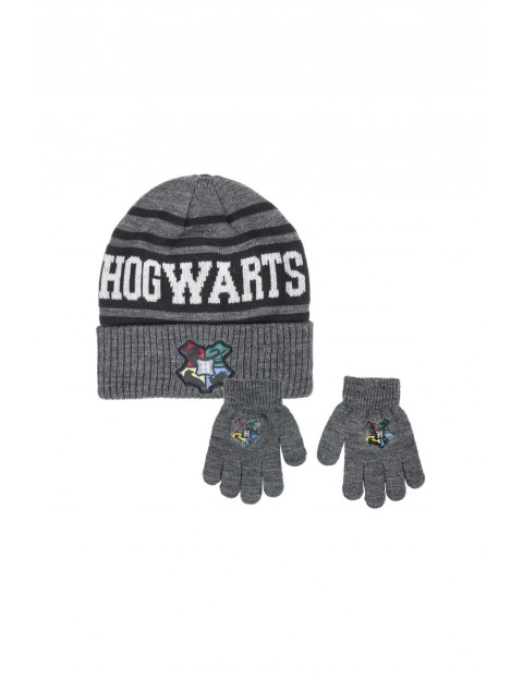 Komplet chłopięcy zimowy czapka + rękawiczki Harry Potter rozm 52/54