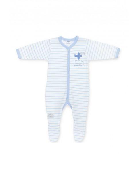 Pajac bawełniany dla noworodka niebieski