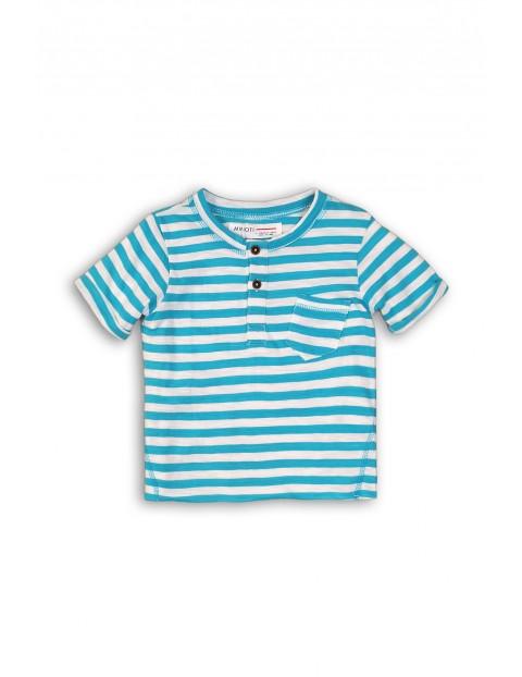 T-shirt chłopięcy w niebieskie paski