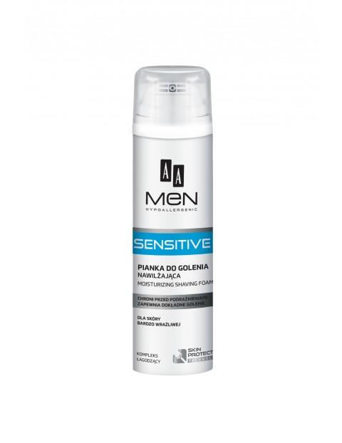 AA Men Sensitive Pianka do golenia nawilżająca dla skóry bardzo wrażliwej 250 ml