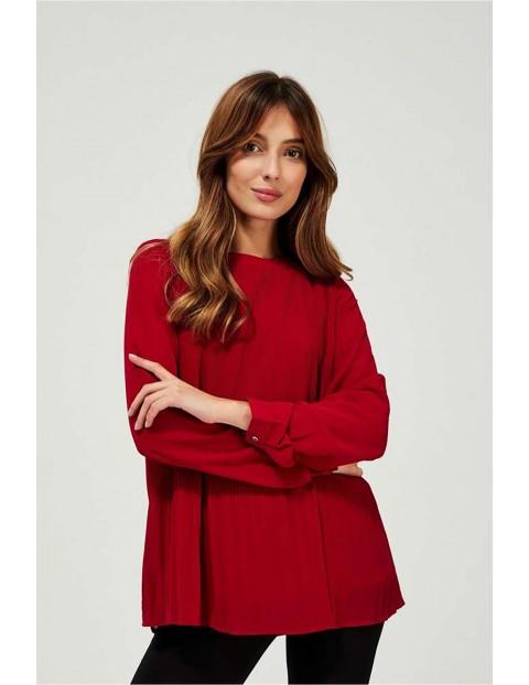 Koszula damska czerwona z plisami