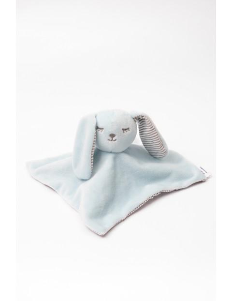 Przytulanka niemowlęca niebieski królik