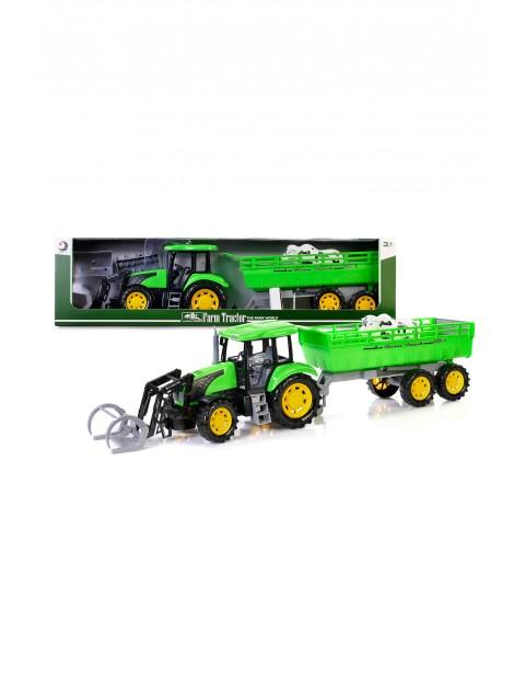 Traktor z przyczepą 79 cm - zielony