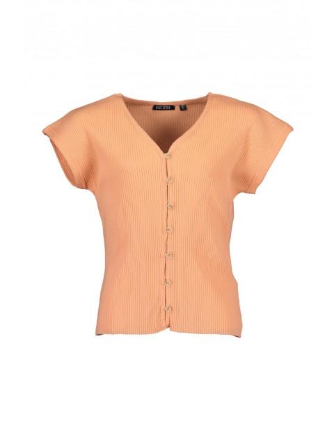 Koszulka dziewczęca pomarańczowa z guzikami