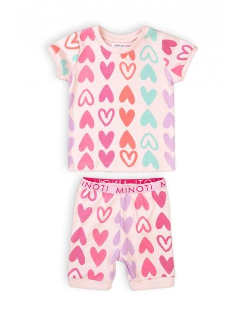 Piżama niemowlęca w serduszka