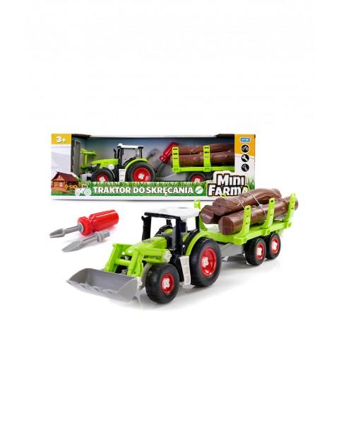 Mini farma traktor z przyczepą do skręcania wiek3+