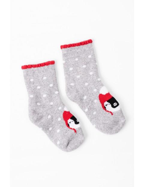 Skarpety świąteczne z pingwinkiem