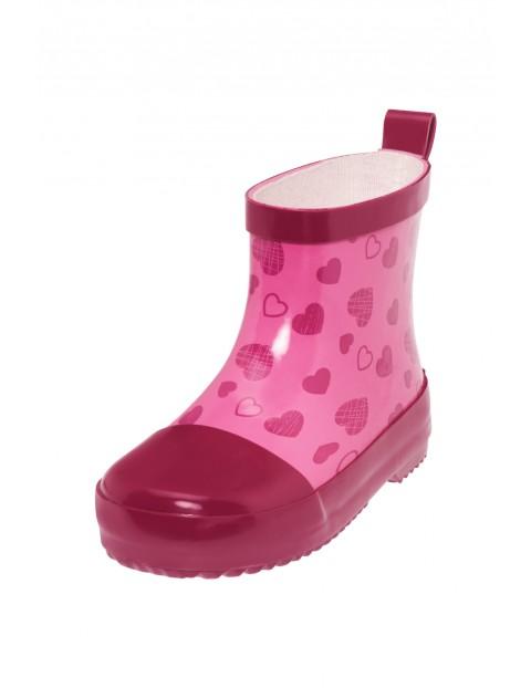 Kalosze krótkie w serduszka różowe Playshoes