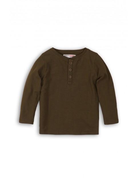 Brązowa bluzka z długim rękawem