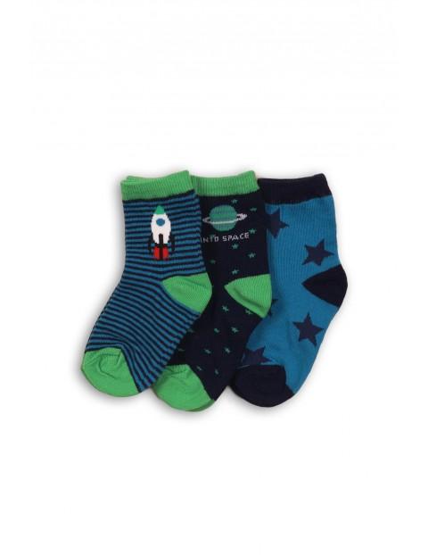 Skarpety chłopięce - kosmos 3pak