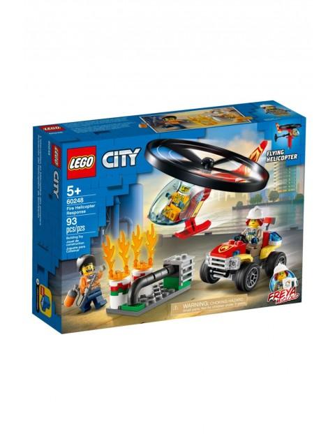 Lego City 60248  - Helikopter strażacki leci na ratunek - 93 elementy wiek 5+