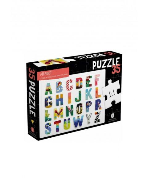 Puzzle Alfabet 35 elementów wiek 2+