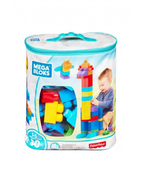 Mega Bloks First Builders - Duża ECO torba z klockami Fisher Price 80 szt