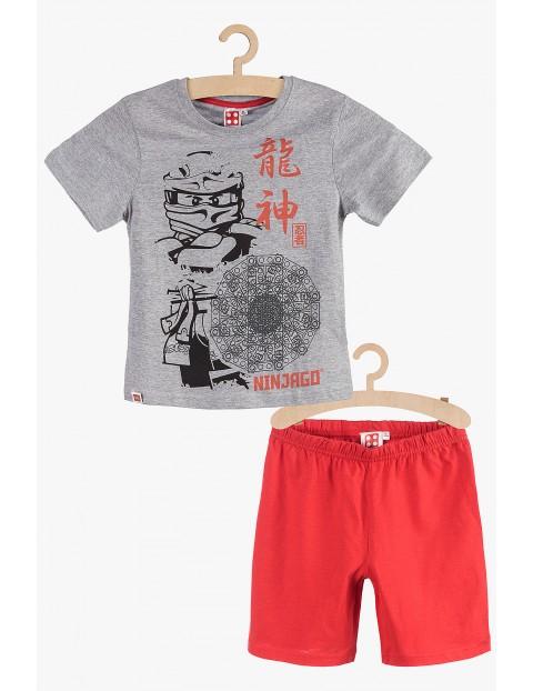Pidżama chłopięca Lego Ninjago szaro-czerwona rozm 140