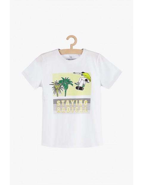 """T-shirt chłopięcy biały """"Staying Radical"""""""
