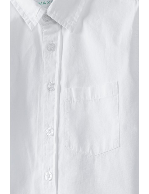 Koszula chłopięca biała z krótkim rękawem