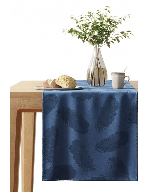 Bieżnik na stół Velvet niebieski 40x140cm