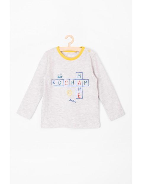"""Bluzka niemowlęca z długim rękawem i napisem """"Kocham Mamę"""""""
