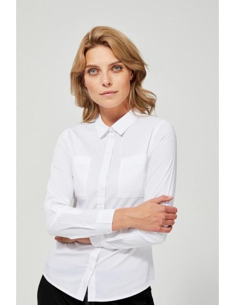 Klasyczna biała koszula damska na guziki