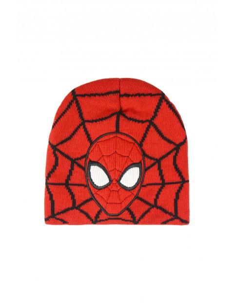 Czapka chłopięca Spiderman - czerwona rozmiar 52/54
