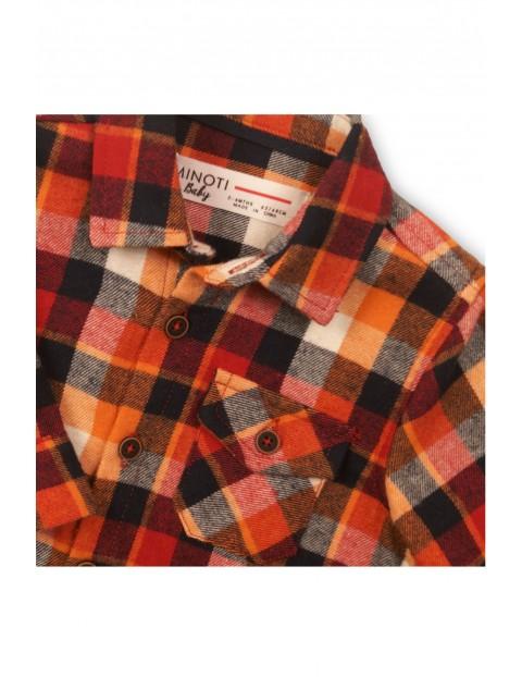 Koszula dla niemowlaka flanelowa w kratę