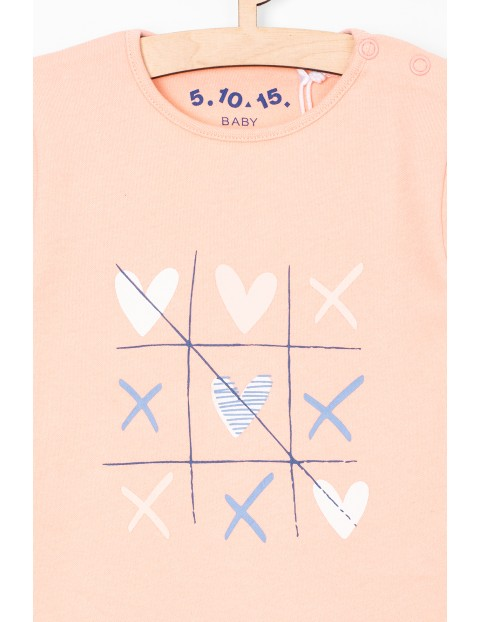 Różowe pastelowe body dla dziewczynki