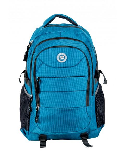 Plecak młodzieżowy szkolny PASO- niebieski