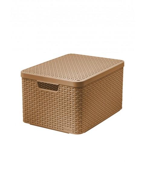 Koszyk z pokrywą Curver brązowy dł. 44,5 x szer. 33 x wys.24,8cm