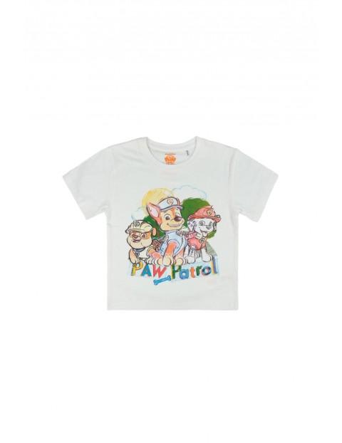 T-shirt chłopięcy Psi Patrol biały