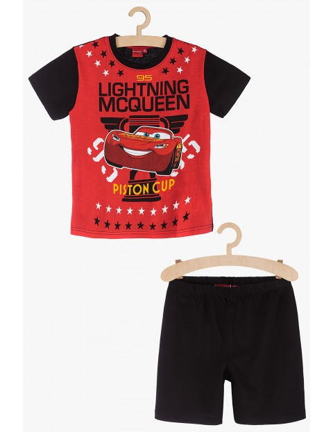 Pidżama chłopięca czerwono-czarna Zygzak McQueen