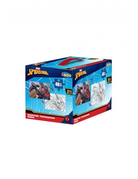 Puzzle 2-stronne 48 elementów SPIDERMAN