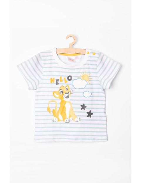 T-Shirt niemowlęcy w paski Simba